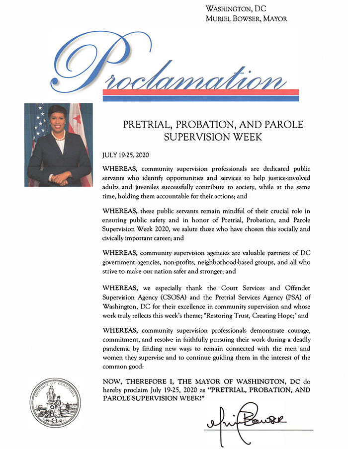 Mayoral Proclamation for PPPS Week 2020